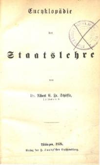 Encyklopädie der Staatslehre
